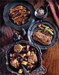 Duck in orange beef stew sirloin steak