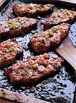 Sweet chilli baked pork loin chops in a baking dish