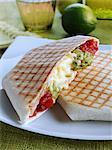 Mexican cheese hexagonal wrap