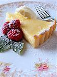 Individual lemon tart slice