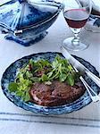 Rib eye steak salad