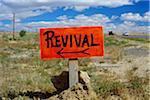 Revival Sign, New Mexico, USA