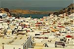 Lindos town, Rhodes, Dodecanese, Aegean Sea, Greece, Europe