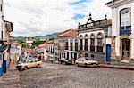 Streets, Ouro Preto, UNESCO World Heritage Site, Minas Gerais, Brazil, South America