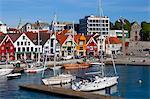 Stavanger's picturesque harbor, Stavanger, Rogaland, Norway, Scandinavia, Europe