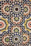 Zeliges, colored decor, Storks' House, Dar Bellarj, built in 1930, Arts and Crafts Centre, Art foundation, Medina, Marrakech, Morocco, North Africa, Africa