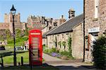 Bamburgh Village and Castle, Northumberland, England, United Kingdom, Europe