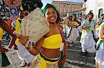 Salvador carnival in Pelourinho, Bahia, Brazil, South America
