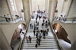 Stairway, Louvre Museum, Paris, France, Europe