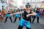 Evangelicals marching at the Salvador carnival in Pelourinho, Salvador, Bahia, Brazil, South America