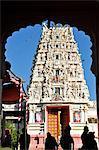 Hindu temple dedicated to Krishna, Pushkar, Rajasthan, India, Asia