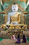Seated Buddha statue, Soon U Ponya Shin Paya, Sagaing Hill, Sagaing, near Mandalay, Myanmar (Burma), Asia