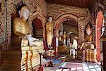 Interior of Thanboddhay Paya (pagoda), near Monywa, Monywa Region, Myanmar (Burma), Asia