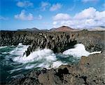 Los Hervideros, El Golfo, Lanzarote, Canary Islands, Spain, Atlantic, Europe