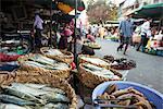 Food market, Phnom Penh, Cambodia, Indochina, Southeast Asia, Asia