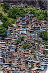 Rocinha Favela on Hillside, Rio de Janeiro, Brazil