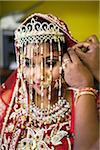 Hindu Woman getting ready for Wedding, Toronto, Ontario, Canada