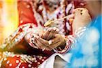 Close-up of Woman's Hands during Hindu Wedding Ceremony, Toronto, Ontario, Canada