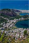 View from Corcovado Mountain of Rio de Janeiro, Brazil