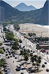 Copacabana Promenade and Copacabana Beach, Rio de Janeiro, Brazil