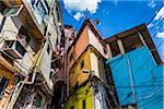 Close-up of buildings, Canaos Favela, Rio de Janeiro, Brazil