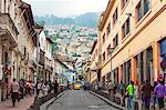 Chile Street, Quito Historical Center, Quito, UNESCO World Heritage Site, Pichincha Province, Ecuador, South America