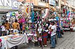 Street scene, Otavalo market, Imbabura Province, Ecuador, South America