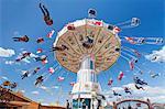 Swing carousel, Cannstatter Wasen (Volksfest), Stuttgart, Baden Wuerttemberg, Germany, Europe