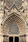 Cathedral west door, Rheims, UNESCO World Heritage Site, Marne, France, Europe
