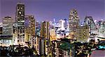 Panoramic view of Bangkok at night from Rembrandt Hotel and Towers, Sukhumvit 18, Bangkok, Thailand, Southeast Asia, Asia