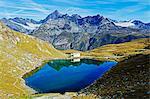 Lake at Schwarzsee paradise, Zermatt, Valais, Swiss Alps, Switzerland, Europe