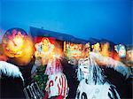 Fasnact spring carnival lantern displays, Basel, Switzerland, Europe