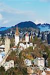 Old city wall, Lucerne, Switzerland, Europe