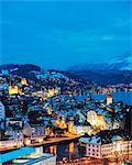Lucerne on Lake Lucerne, Lucerne, Switzerland, Europe