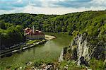 Weltenburg Monastery and River Danube, near Kelheim, Bavaria, Germany, Europe