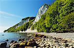 Koenigsstuhl, chalk cliffs, Jasmund National Park, Ruegen Islan (Rugen Island), Mecklenburg-Vorpommern, Germany, Baltic Sea, Europe