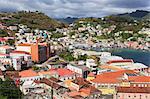 Downtown St. Georges, Grenada, Windward Islands, West Indies, Caribbean, Central America