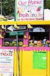 Fruit market in Cruz Bay, St. John, United States Virgin Islands, West Indies, Caribbean, Central America