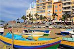 Fishing boats on Canteras Beach, Las Palmas City, Gran Canaria Island, Canary Islands, Spain, Atlantic, Europe