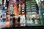 Neon lights on a rainy evening, Shinjuku, Tokyo, Honshu, Japan, Asia
