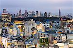 Elevated view of Shinjuku skyline viewed from Shibuya, Tokyo, Honshu, Japan, Asia