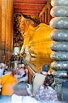 Reclining Golden Buddha in Wat Pho temple (Wat Phra Chetuphon), Bangkok, Thailand, Southeast Asia, Asia