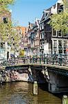 Bridge over Brouwersgracht, Amsterdam, Netherlands, Europe