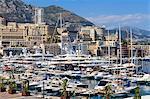 Monaco harbour, Monaco, Mediterranean, Europe