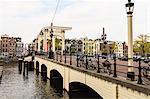 Magere Brug (the Skinny Bridge), Amsterdam, Netherlands, Europe