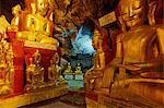 Statue of the Buddha, Shwe Oo Min natural Buddhist cave pagoda, Pindaya, Shan State, Myanmar (Burma), Asia