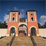 Renovated pilgrimage church in Jaromerice u Jevicka