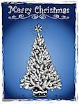 Christmas tree stylized drawing 3 - eps10 vector illustration.