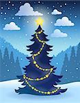Christmas tree theme 5 - eps10 vector illustration.