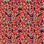 Seamless pattern - bright flower background